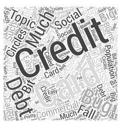 Credit Card Debt Word Cloud Concept vector