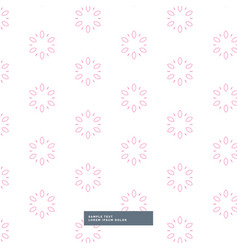 Cute pink flower pattern background vector