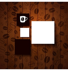 Design template for Your coffee shop vector