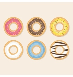 Donut set vector image