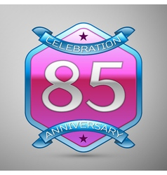 Eighty five years anniversary celebration silver vector