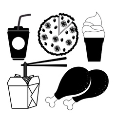 Fast and delicious food vector
