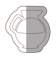 Figure water pitcher icon vector