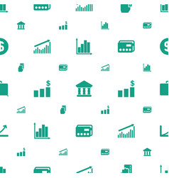 Finance icons pattern seamless white background vector