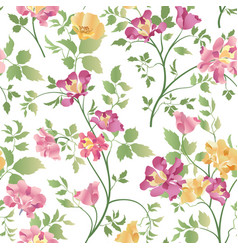 Floral ornamental seamless pattern flower bouquet vector