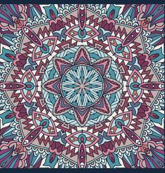 flower ethnic seamless design vector image
