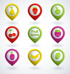 Fruit icons vector