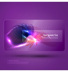 Glowing purple abstract background with place vector