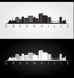 Greenville usa skyline and landmarks silhouette vector