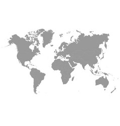 grey world map modern vector image