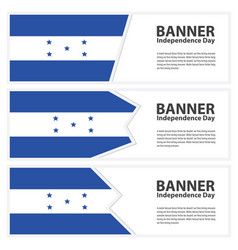 Honduras flag banners collection independence day vector