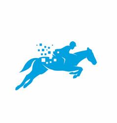 Horse data logo design template vector