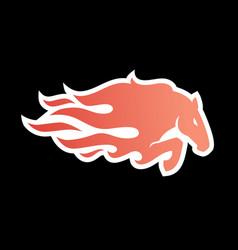 horse fire logo icon for branding car wrap decal vector image
