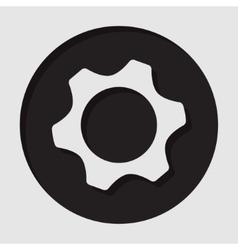 Information icon - cogwheel vector
