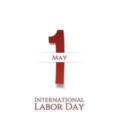 International Labor Day May 1st festive Card vector