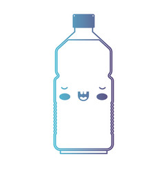 kawaii water bottle in degraded blue to purple vector image