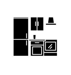 kitchen wardrobe black icon sign on vector image