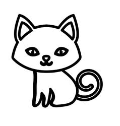 kitten soft animal friendly outline vector image