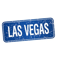 Las Vegas blue stamp isolated on white background vector
