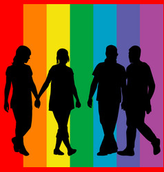 lgbt concept with gay and lesbian couple on vector image