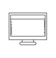line computer technology with screen and webside vector image