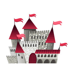 medieval kingdom character isolated fairy tale vector image
