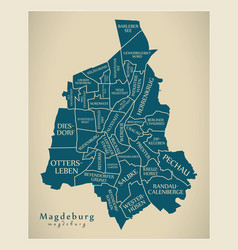 Modern city map - magdeburg city of germany with vector