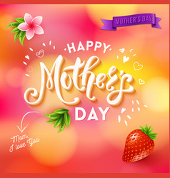 mom i love you mothers day template with banner vector image