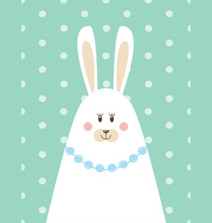 mother rabbit in a scandinavian style vector image