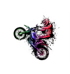 Motocross rider ride motocross bike vector