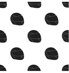 motorcycle helmet icon black single sport icon vector image