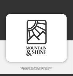 mountain and shine logo design inspiration vector image