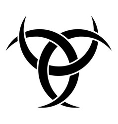 odin horn paganism symbol icon black color flat vector image