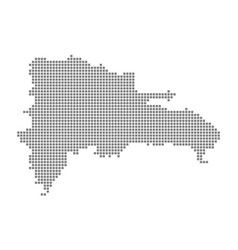pixel map of dominican republic dotted map of vector image