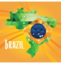 Poster soccer world game Design concept brazil vector image