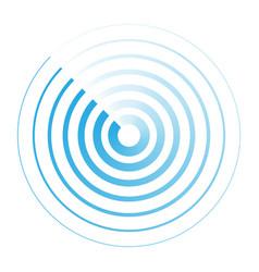 Radar abstract icon symbol vector