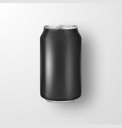 Realistic 3d empty glossy metal black vector
