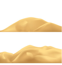 Sand mountains set vector