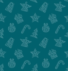 seamless wallpaper with christmas elements vector image