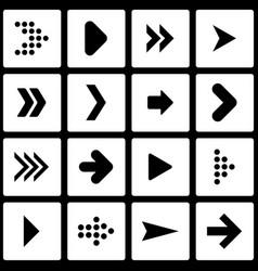 Set of stencil arrows vector