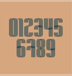 set of ten numbers form zero to nine number vector image