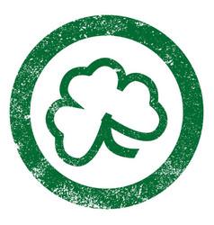 Shamrock leaf stamp vector