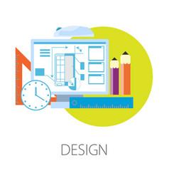 Smartphone design process in computer program vector