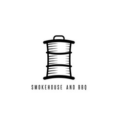 smokehouse and bbq concept with barrel vector image