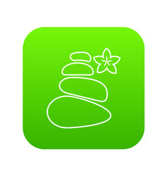 spa balance stones icon green vector image