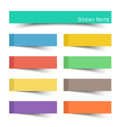 sticky note with flat color vector image