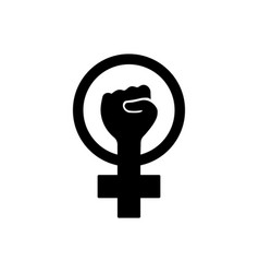 Symbol feminist movement icon outline on vector