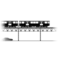 The Elevated Train in Chicago vector