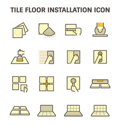 Tile floor icon vector