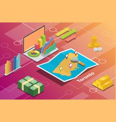 toronto ontario city isometric financial economy vector image